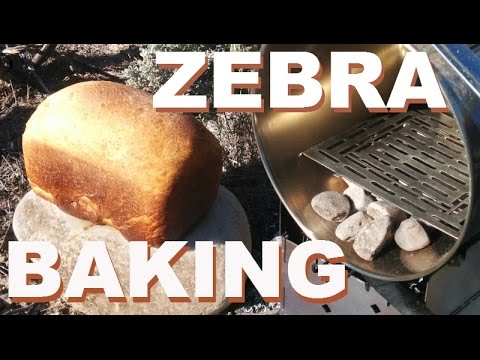 ZEBRA Pot Dry Baking A Loaf Of Bread In The Camp Oven On The Firebox Camp Stove