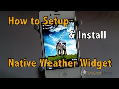 How-To Setup and Install Native Weather Widget with iFile