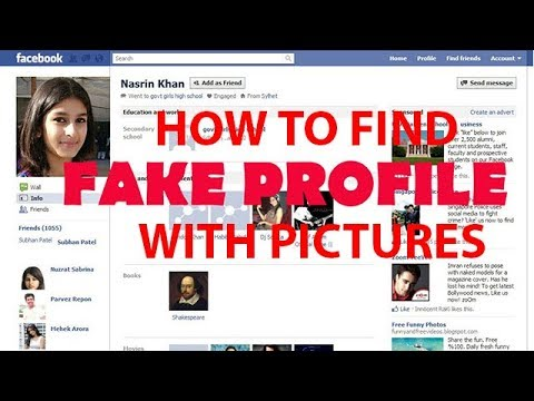 HOW TO FIND FAKE facebook ID WITH PROFILE PICTURES!