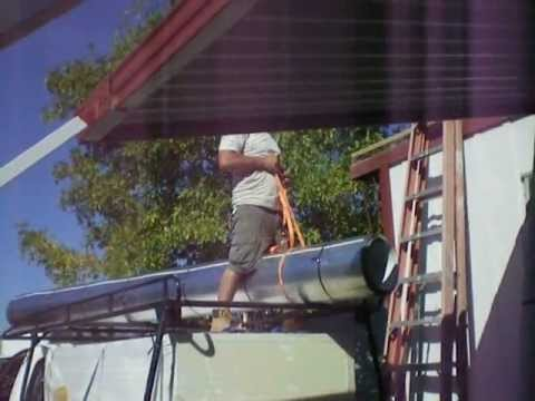 Metal Roof Installed on Mobile Home (Before & After)