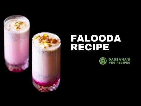falooda recipe - how to make falooda recipe with ice cream, falooda ice cream