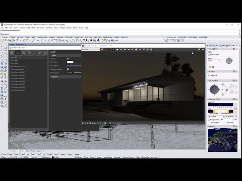V-Ray for Rhino – Quick Start: Nighttime Exterior Lighting