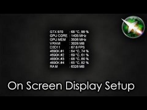 How to monitor FPS,CPU,GPU and RAM usage in Games [MSI AFTERBURNER]OSD - (2017)