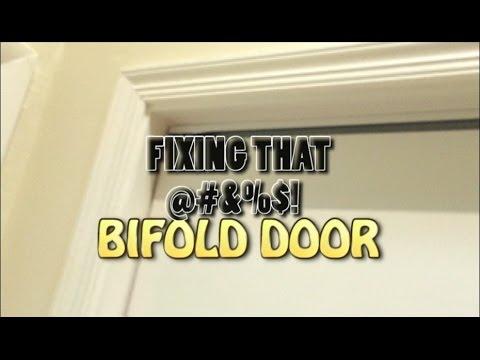 Fixing the bifold closet door