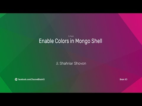 Enable Colors in Mongo Shell on Linux with Mongo Hacker