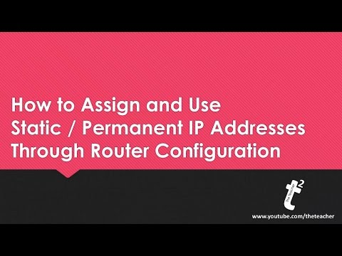 How to Assign and Use Static IP Addresses on Private Networks using Wifi Router