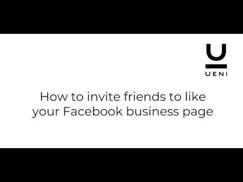 How to invite friends to like your Facebook business page