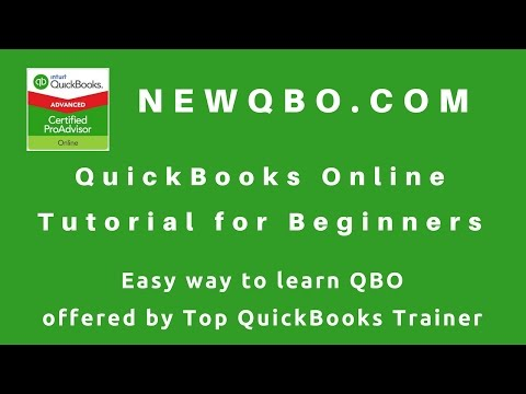 QuickBooks Online Tutorial for Beginners - learn how to use QBO easy way