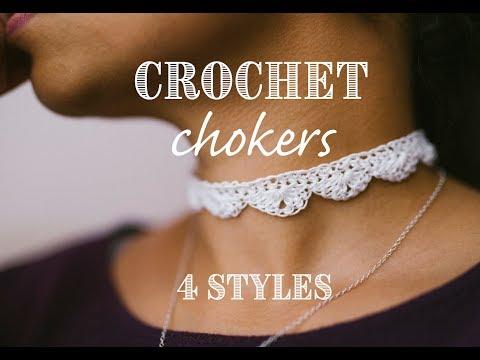 DIY Crochet Chokers: 4 Styles