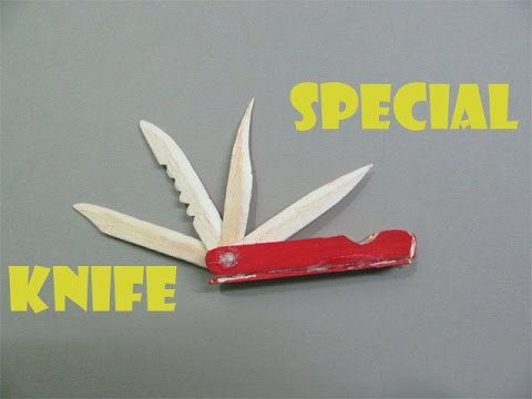 How to Make a Multi Functional Knife with Pop Sticks - Easy Tutorials