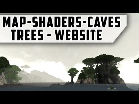 New map - Website - Trees - Caves and default shaders!