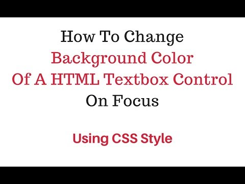 html focus textbox input background color change using css style