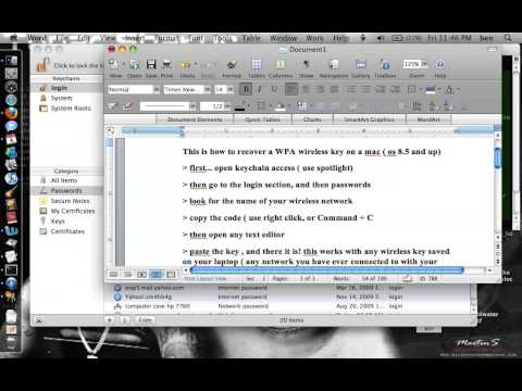 How to recover a lost WEP / WPA key 