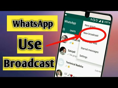 How to use Whatsaap broadcast