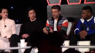 Daisy Ridley, Adam Driver, Oscar Isaac, John Boyega | STAR WARS: THE LAST JEDI Progressing The Story