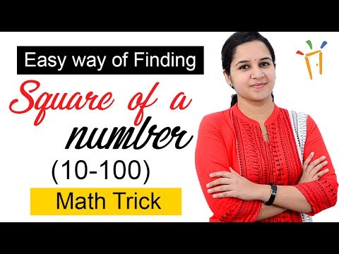 Aptitude Made Easy – Easy way of finding square of a number? - 10-100,Math tricks and shortcuts