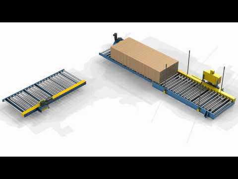 LEWCO Custom Powered Transfer Car and Chain Driven Live Roller Conveyor