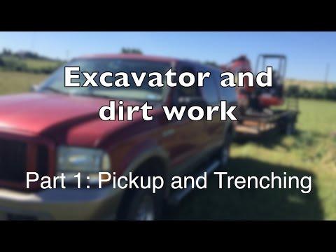 Mini Excavator Part 1: Trenches