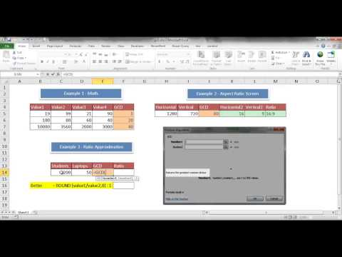 Use the GCD Function to Calculate Ratios