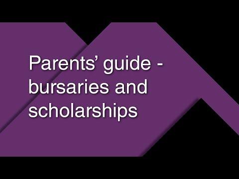 Parents' guide – bursaries and scholarships