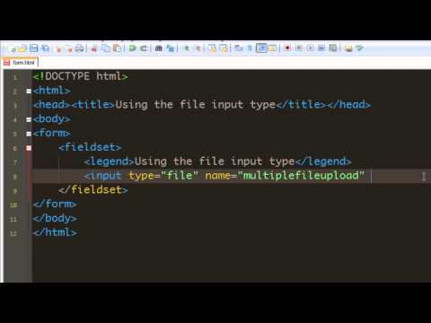 Html 5 Forms tutorial - 05 - Using the File input type.mp4
