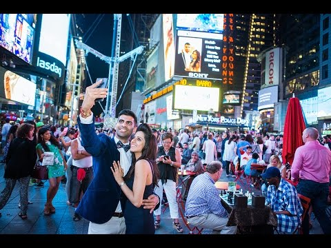 How to propose on Times Square Billboard.