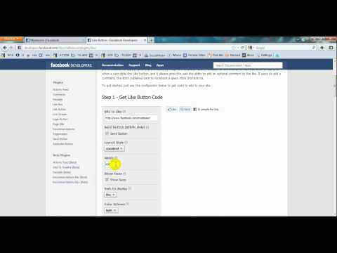 Facebook : How to Add A Like Button In A  Website (Hindi)