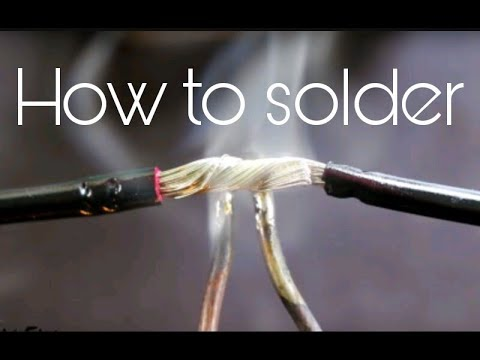 How to solder the wires together