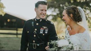 Marine Corps Pilot Cries When He Sees His Bride | Jenn + Brian Wedding Video