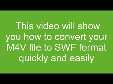 How to Convert M4V to SWF