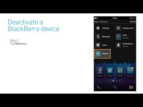How to deactivate a BlackBerry device