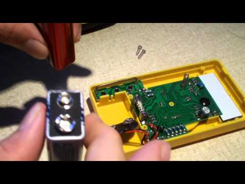 How to replace the battery and fuse in a basic digital multimeter