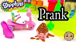 Shopkins Season 2 & 3 Prankster Play Video - Prank at the Small Mart - Cookieswirlc