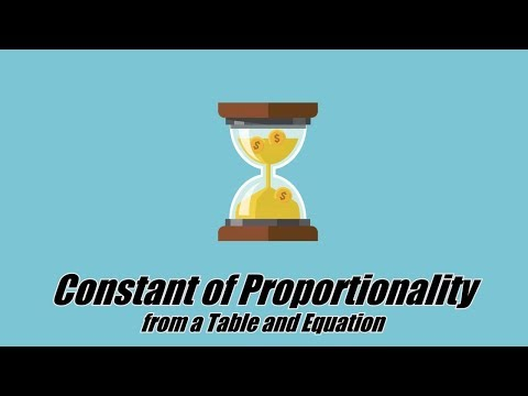 Constant of Proportionality from a Table and Equation | 8.EE.A.5 & 7.RP.A.2