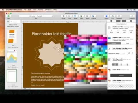 Design Flyer on Mac: How to create a portrait mode flyer using a letter size paper