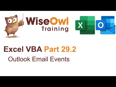 Excel VBA Introduction Part 29.2 - Outlook Email Events