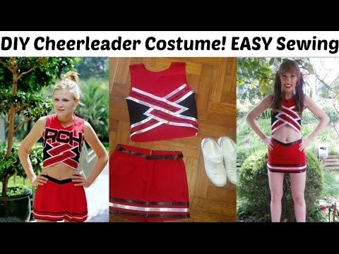 DIY Bring It On Cheerleading Outfit! Halloween Costume | Easy Sewing