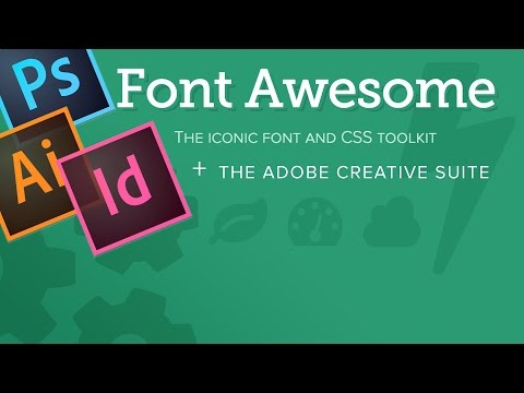 How to use Font Awesome Icons with Photoshop, Illustrator, or any other program