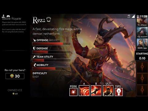 Battle Royal With New Hero ( Reza ) Vainglory 2.7