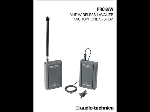 Audio Technica PRO88W Wireless Microphone System
