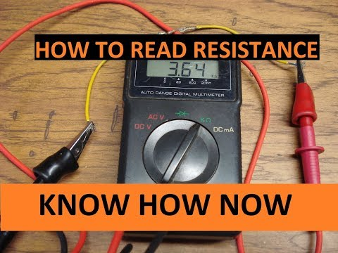 Use Multimeter to Test Resistance and Continuity