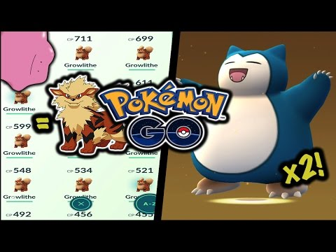 DOUBLE SNORLAX HATCH, GETTING DITTO & GROWLITHE NEST! - Pokemon Go