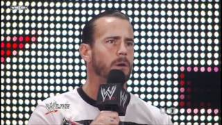 Kevin Nash and CM Punk FULL Confrontation - WWE Raw 8 15 11.
