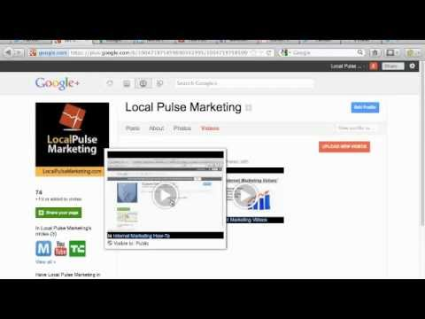 Add Video To Google Plus Business Page: Videos On Google+ Brand Page