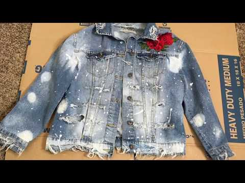 DIY Distressed Jean Jacket