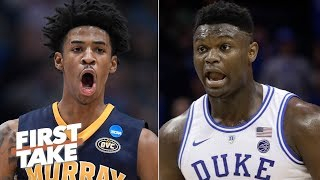 Download Ja Morant will be drafted right behind Zion Williamson - Max Kellerman | First Take Video