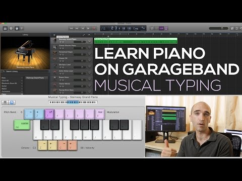Learn to Play Piano on GarageBand #1 - How to Play Music with Your Computer Keyboard