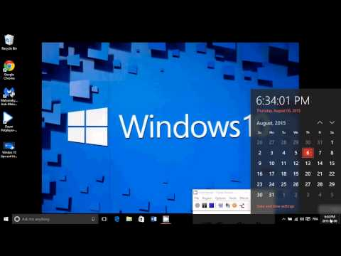 Windows 10 tips and tricks How to display a quick Calendar