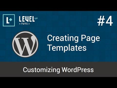 Customizing WordPress #4 - Creating Page Templates