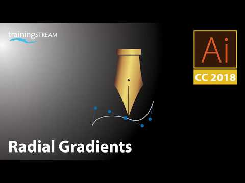 How to create a radial gradient in Adobe Illustrator